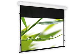 DELUXX Cinema Elegance elektrisch projectiescherm, Tension 254 x 192, mat wit Varico Flat