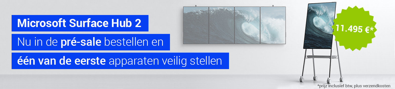Microsoft Surface Hub2 - Nu in de pré-sale bestellen